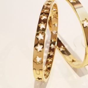 18K Gold Stainless Steel Bracelet Bangle Cuff